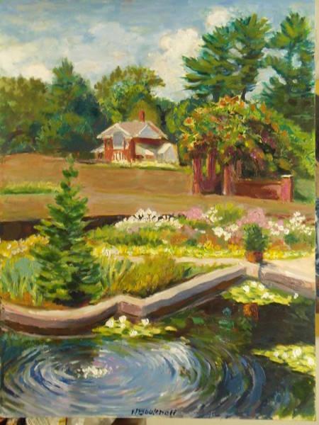 Painting - Vanderbilt Italian Garden by Nicolas Bouteneff
