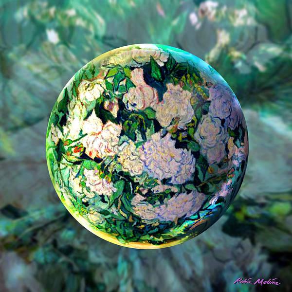 Rose Flower Digital Art - Vangloghing Roses by Robin Moline