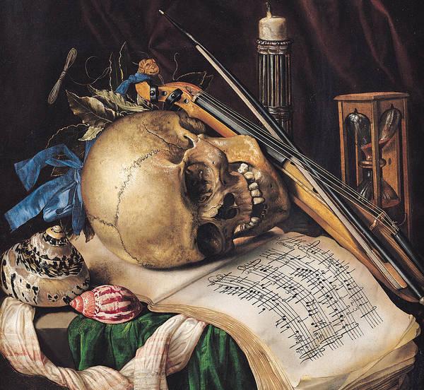 Note Book Painting - Vanitas by Simon Renard de Saint Andre