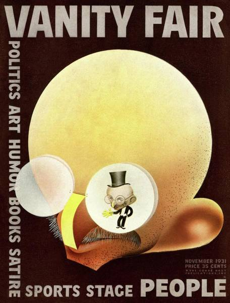 Top Hat Photograph - Vanity Fair Cover Featuring A Caricature by Paolo Garretto