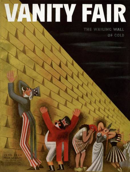 Male Figure Photograph - Vanity Fair Cover Featuring A Group Of Figures by Miguel Covarrubias