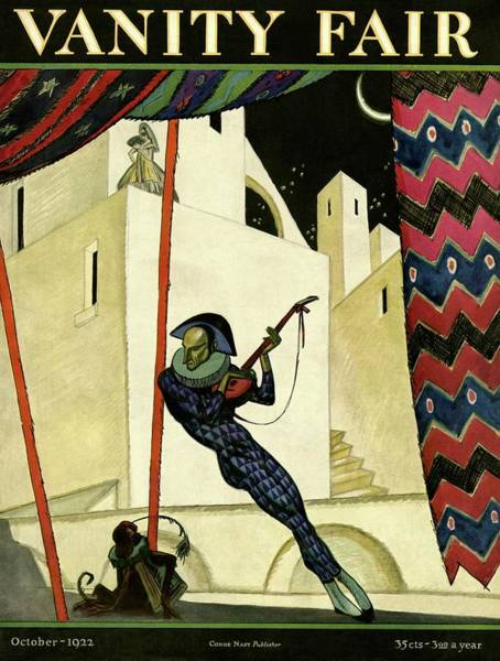 Wildlife Photograph - Vanity Fair Cover Featuring A Harlequin by Artist Unknown