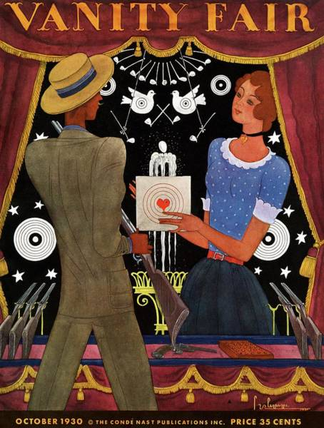Fun Photograph - Vanity Fair Cover Featuring A Man And Woman by Georges Lepape