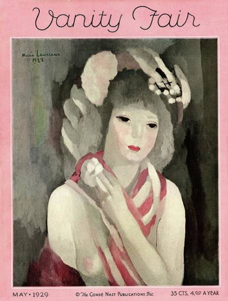 Vanity Fair Wall Art - Photograph - Vanity Fair Cover Featuring A Painting by Marie Laurencin