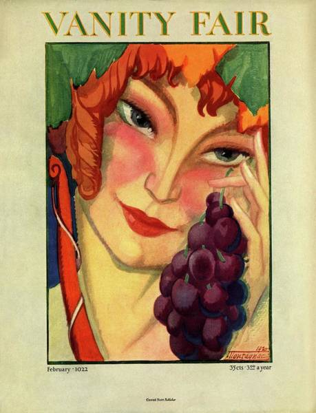 Grape Photograph - Vanity Fair Cover Featuring A Woman Holding by Montagnac