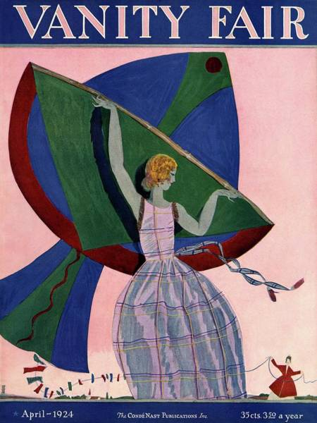 Kite Photograph - Vanity Fair Cover Featuring A Woman With A Kite by Eduardo Garcia Benito