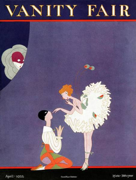 Visual Arts Photograph - Vanity Fair Cover Featuring Dancers Flirting by A. H. Fish