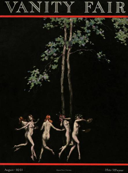 1921 Photograph - Vanity Fair Cover Featuring Five Wood Nymphs by Warren Davis
