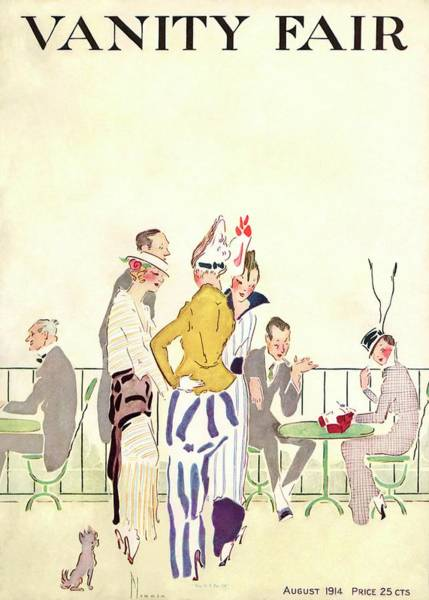 Outdoor Photograph - Vanity Fair Cover Featuring People At An Outdoor by Ethel Plummer