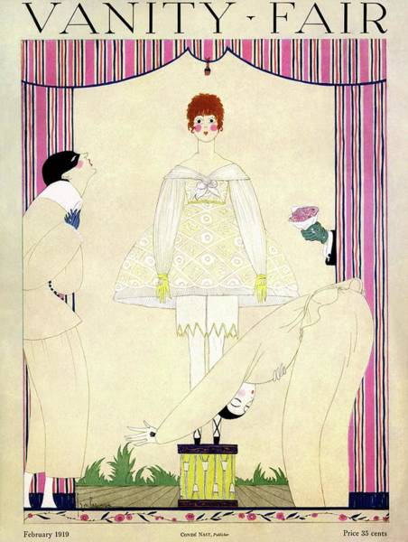 Fair Photograph - Vanity Fair Cover Featuring Three Men Wooing by Georges Lepape