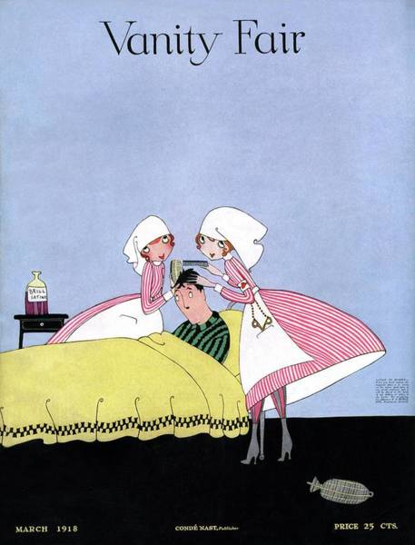 Grooming Photograph - Vanity Fair Cover Featuring Two Candy Stripers by Artist Unknown