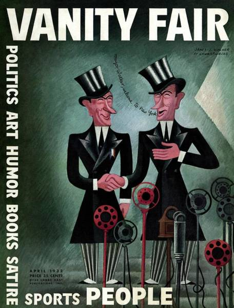 Wall Art - Photograph - Vanity Fair Cover Featuring Two James Walkers by Miguel Covarrubias