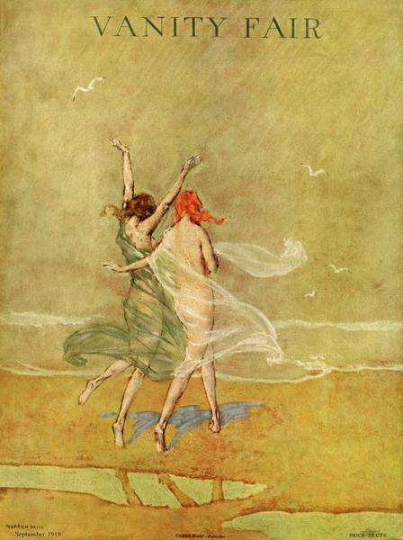 Water Photograph - Vanity Fair Cover Featuring Two Nymphs by Warren Davis