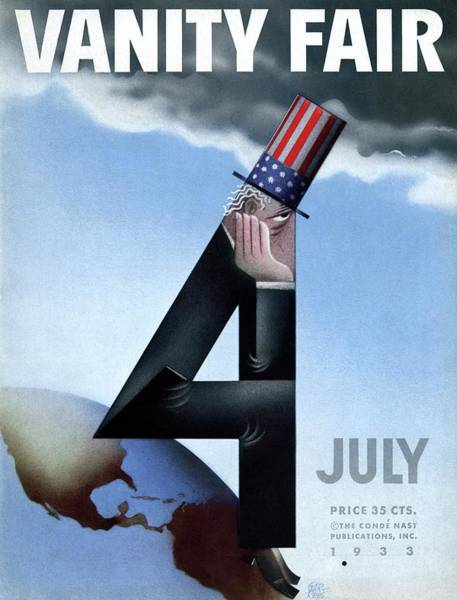 Top Hat Photograph - Vanity Fair Cover Featuring Uncle Sam Sitting by Paolo Garretto