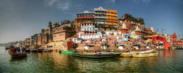 Ganges River Photograph - Varanasi Panorama by Photo ©tan Yilmaz