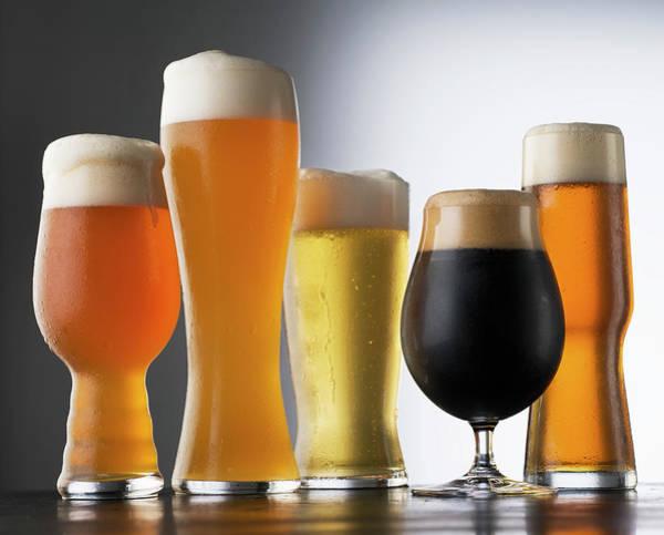 Beer Photograph - Variety Of Beer Glasses by Jack Andersen