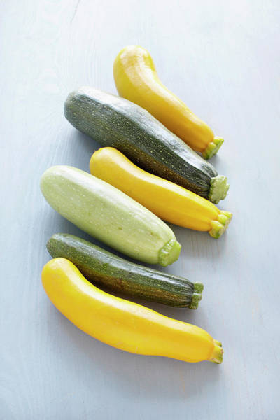 Healthy Eating Photograph - Variety Of Zucchini by Photo Division