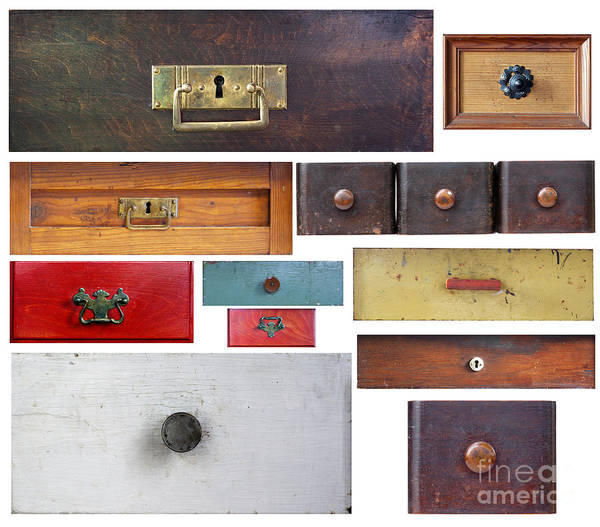 Chest Of Drawers Photograph - Various Old Drawers by Michal Boubin