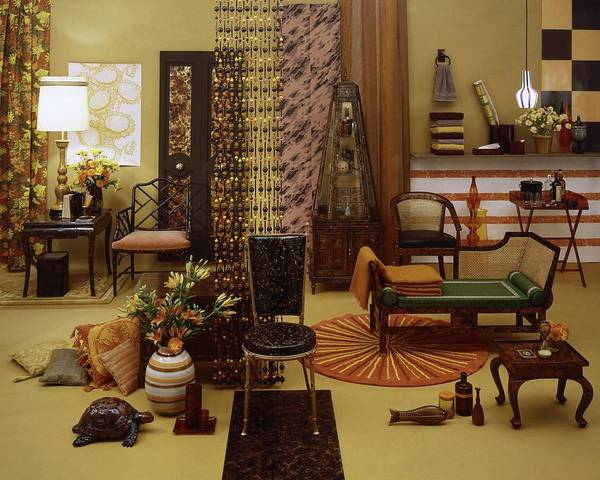 Lounging Photograph - Various Tortoise Shell Furniture And Accessories by Tom Yee