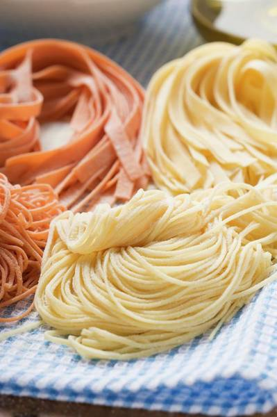 Wall Art - Photograph - Various Types Of Home-made Pasta by Foodcollection