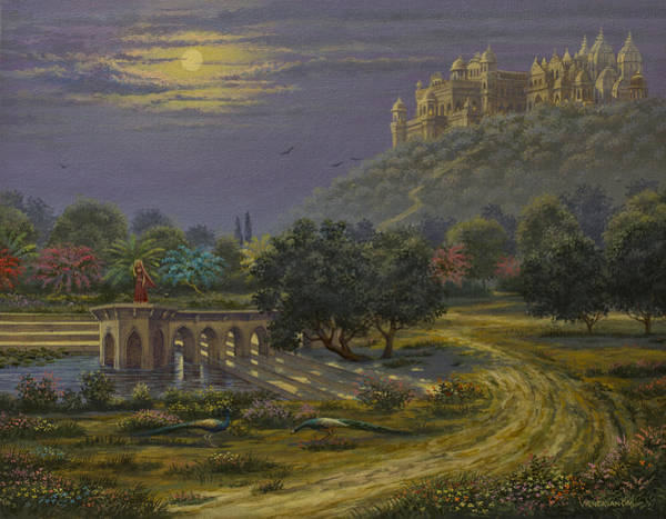 Wall Art - Painting - Varsana. Abode Of Radharani by Vrindavan Das