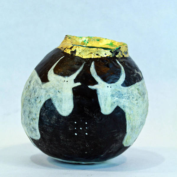 Art Nouveau Mixed Media - Vasa Taurus No 2  by Mark M  Mellon