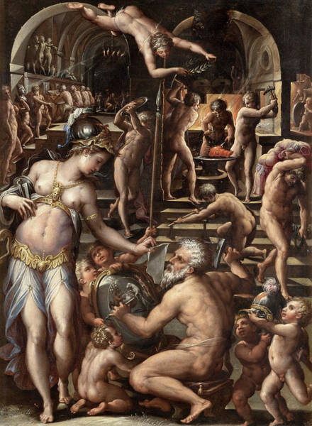 Wall Art - Painting - Vasari Forge Of Vulcan by Granger