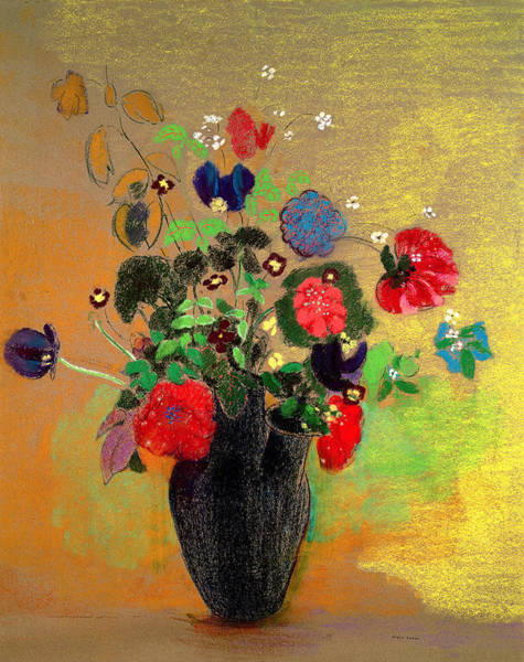 Fleur Painting - Vase Of Flowers by Odilon Redon
