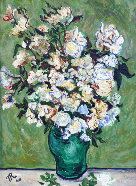 Painting - Vase Of Roses by Tom Roderick