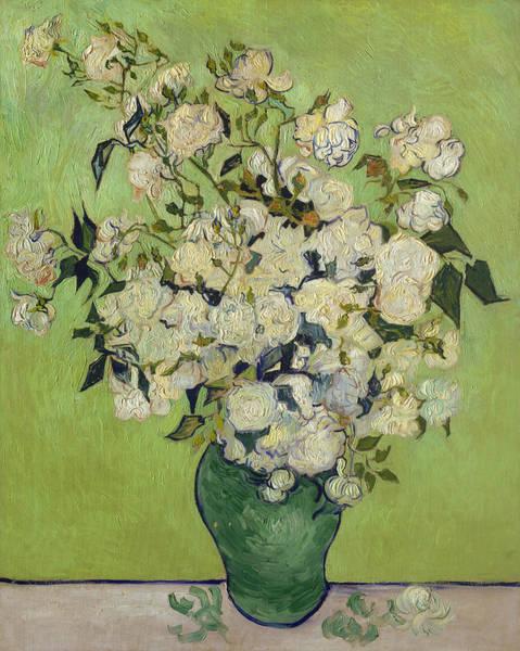 Wall Art - Painting - Vase Of Roses by Van Gogh