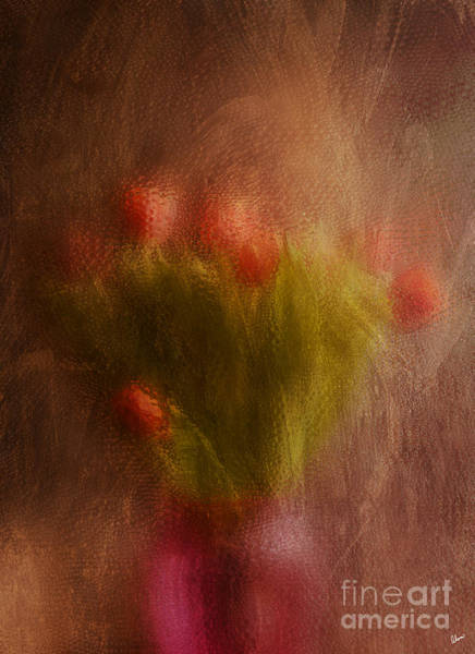 Photograph - Vase Of Tulips  by Alana Ranney