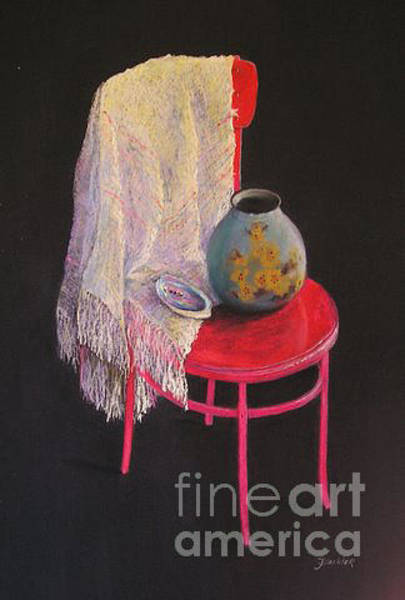 Painting - Vase On A Chair by Julia Blackler