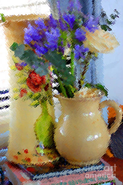 Photograph - Vase Vignette by Donna Bentley