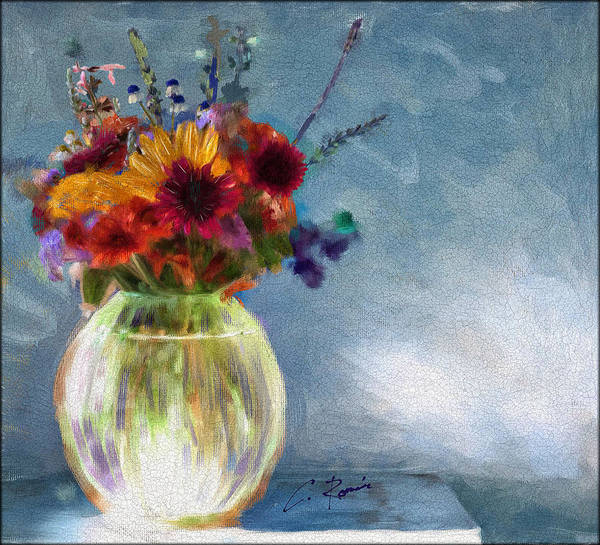 Painting - Vase With Flowers by Charlie Roman