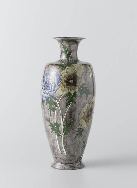 Wall Art - Painting - Vase With Painting Of Flowers by Litz Collection