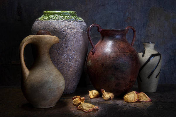 Tan Photograph - Vases And Urns Still Life by Tom Mc Nemar