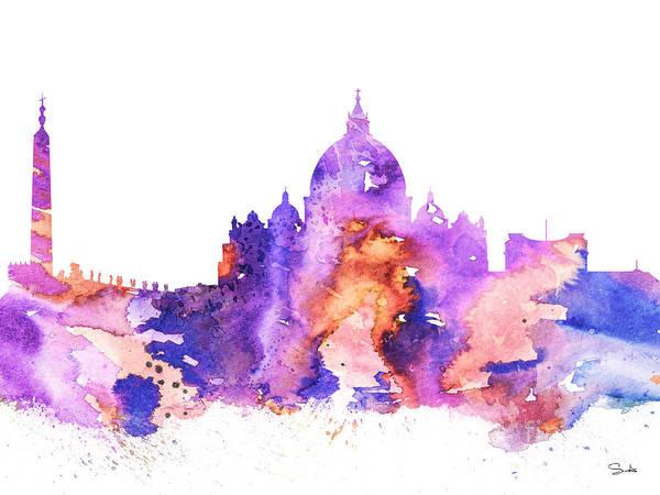 Vatican Painting - Vatican by Watercolor Girl