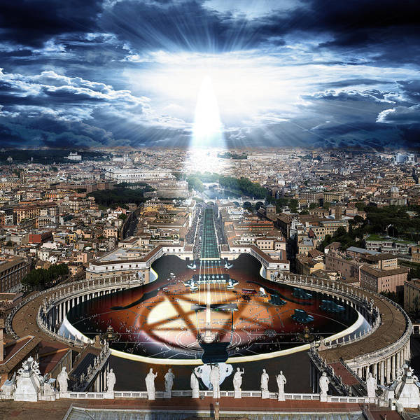 Weird Digital Art - Vatican Rocking View by Marian Voicu