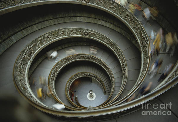 Photograph - Vatican Staircase by John G. Ross