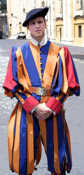 Photograph - Vatican Swiss Guard by KG Thienemann