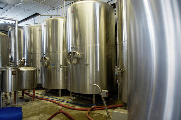 Wall Art - Photograph - Vats In Microbrewery by Adam Hart-davis/science Photo Library