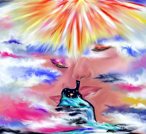 Empyrean Digital Art - Eternal Love by Lori  Lovetere