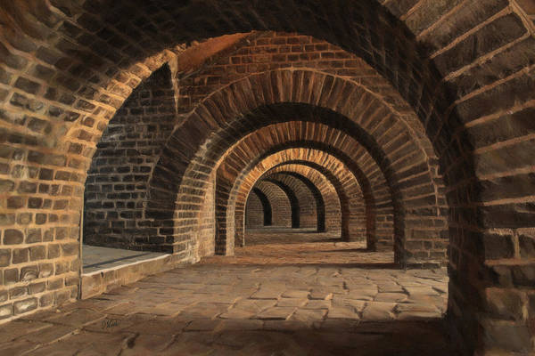 Painting - Vaulted Cellar 2473 by Dean Wittle