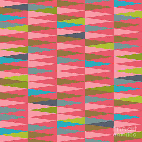 Illusion Digital Art - Vector Abstract Geometric Triangle by Babayuka