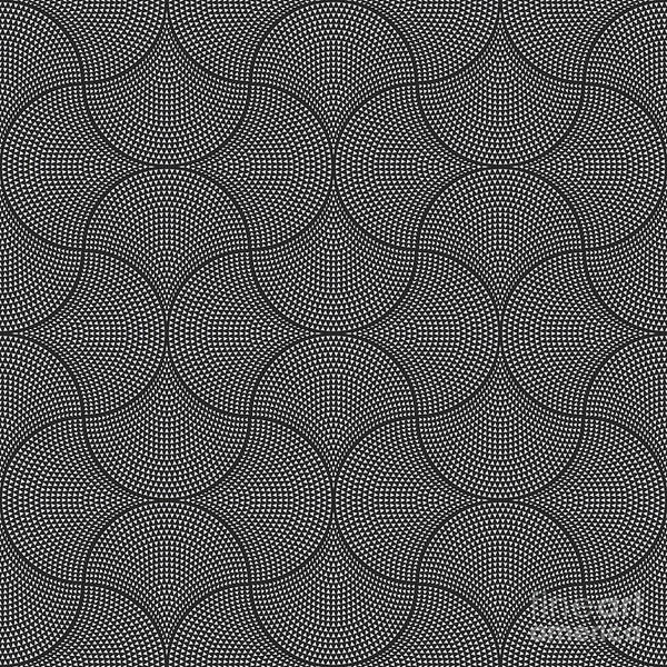 Triangle Digital Art - Vector Abstract Seamless Wavy Pattern by L. Kramer