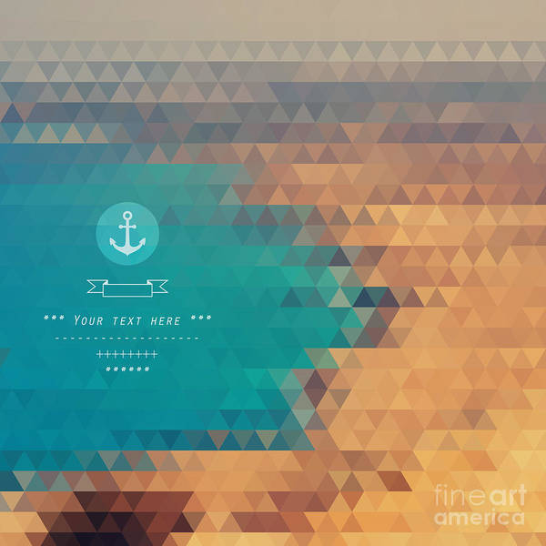 Wall Art - Digital Art - Vector Background Made Of Triangles by Lera Efremova