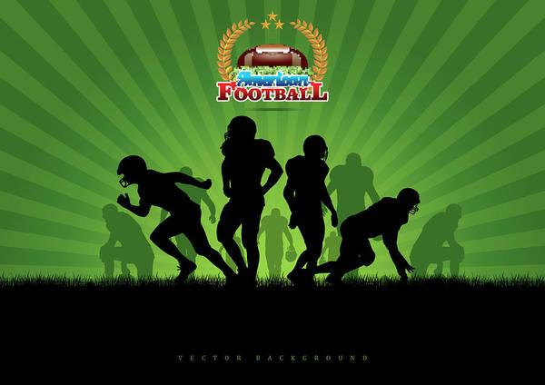 Vector Digital Art - Vector Football Background by Stock art