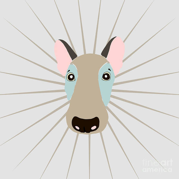 Canine Wall Art - Digital Art - Vector Funny Head Of Dog On Vintage by Polanika
