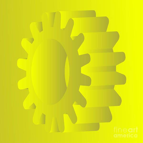 Wall Art - Digital Art - Vector Gears by Michal Boubin
