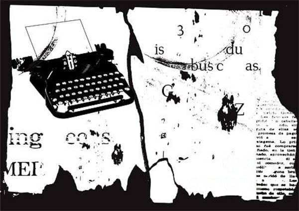Typewriters Wall Art - Digital Art - Vector Grunge Background by Ozger Sarikaya